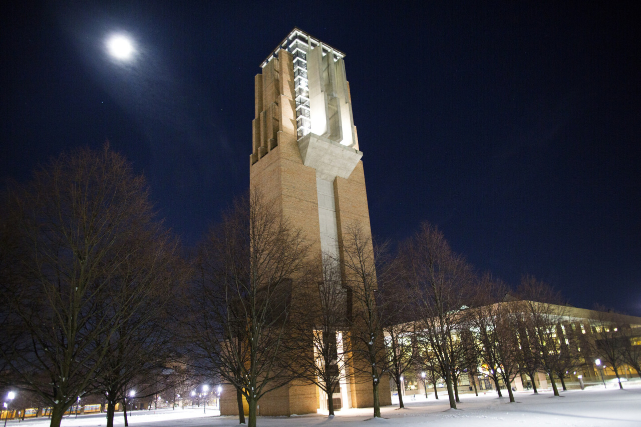 The Ann and Robert H. Lurie Tower on North Campus in Ann Arbor, MI on December 27, 2012 Photo: Joseph Xu, Michigan Engineering Communications and Marketing