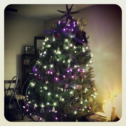 Christmas tree 2012 #tree #Christmas #white #purple #decoration #season