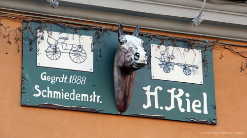 "The ""new"" blacksmith - Die neue Schmiede - Rixdorf on Flickr.Photo from the shoot of ""Bohemian Rixdorf (Böhmisch-Rixdorf) – In A Berlin Minute (Week 152),"" which you can watch here: movingpostcard.com/rixdorf-berlin/"