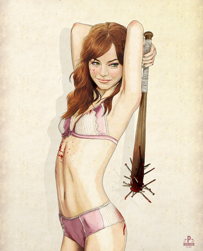"velved:  Awesome art prints: ""Slaughterhouse Starlets"" by Keith P. Rein"