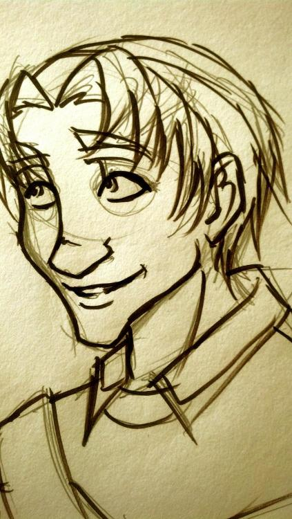 Anduin sketch for someone who RPs him over on DW.