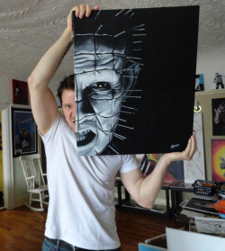 Okay, so I am now officially putting up the PINHEAD for the 'silent auction' type of thing. If you're interested in it, PM me with your bid on it. Should you be outbid, I will let you know, and I'll let you know what the top bid currently is at. I'm going to run this for a couple weeks & I'll be putting up notices/reminders here, on the Art Page and on the Quiet Room Bears page. Any questions, shoot 'em my way! www.facebook.com/artbyleehoward