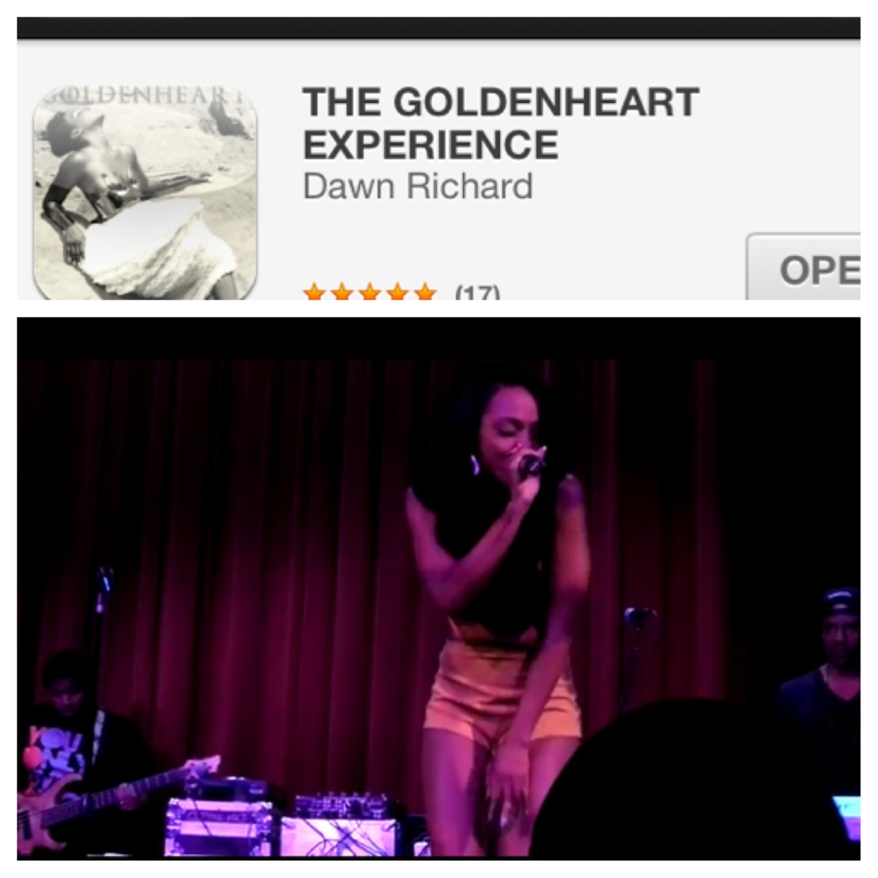 New performance videos on my app for iPhone & Android! http://mobileroadie.com/apps/dawnrichard