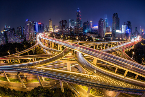 Shanghai Highway by Sandro Bisaro on Flickr.