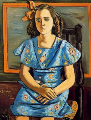 "Rafael Zabaleta ""Portrait of girl sitting"" 1943"