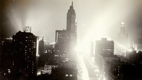 calumet412:  Looking south on N Michigan Ave, 1933, Chicago.