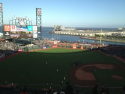 The view off the back of the Giants' stadium is pretty nice. at AT&T Park – View on Path.