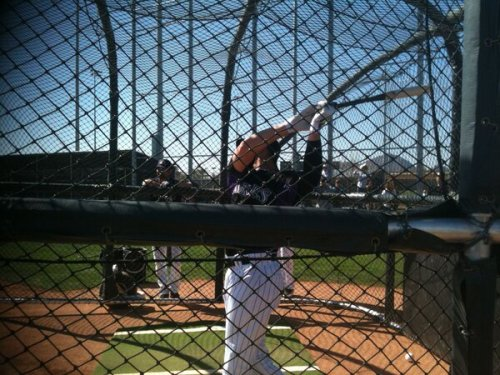 #Rockies SS Troy Tulowitzki takes big cut with 1B Todd Helton watching