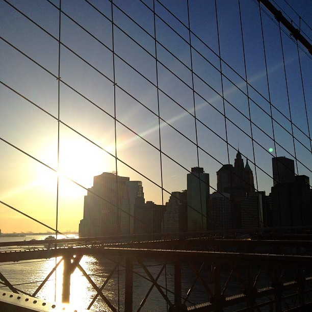 New York, New York, 9 March 2013 #brooklyn #brooklynbridge #bkny #iphoneography #iphone #6x7 #newyork #newyorkcity #sunset