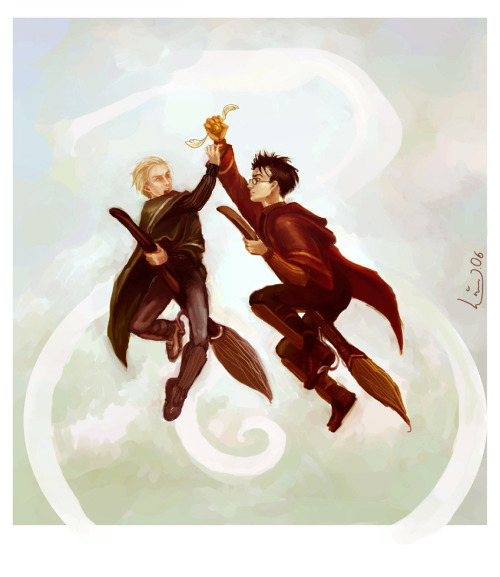 Quidditch rivals by Linnpuzzle  Geez, I had forgotten about this one.  My atanomy skills were horrible.