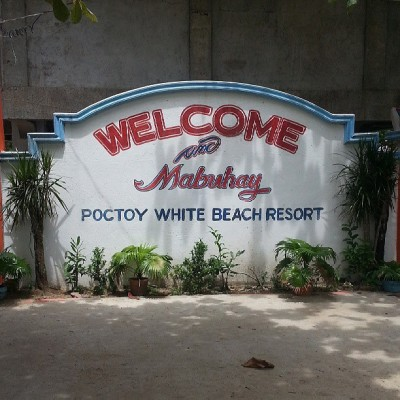 Here at Poctoy White Beach Resort… :)