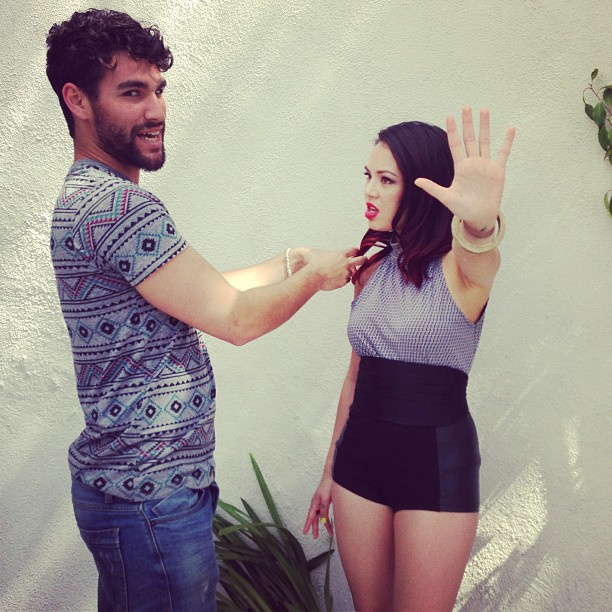 Janel Parrish: new photoshoot BTS.