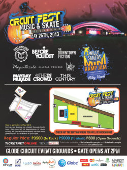 circuitfest:  It's not to late to get your Circuit Fest Meet & Greet tickets.  We also have tickets starting at P800.  visit:  www.circuitfest.com