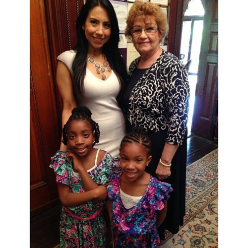 The bride, her mother, and the nieces. #theshabazzwedding #enjoytheseconds