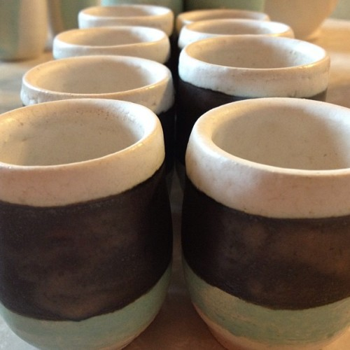 I made some shot glasses. #clay #ceramics #artist #art #handmade