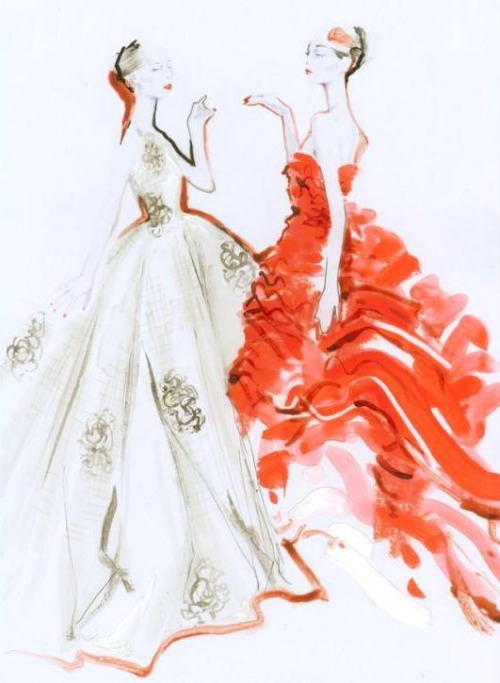 hautekills:  Sketch for Christian Dior haute couture s/s 2012