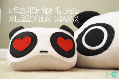 DIY Panda Sleep Mask via Minted Strawberry
