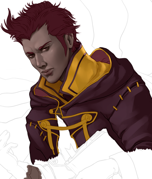 My unit, Lautrec, from Fire Emblem Awakening. Wip.