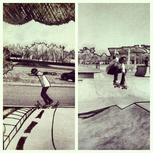 put some ink on some photographs last night  |#skatelife #skateeverydamnday|