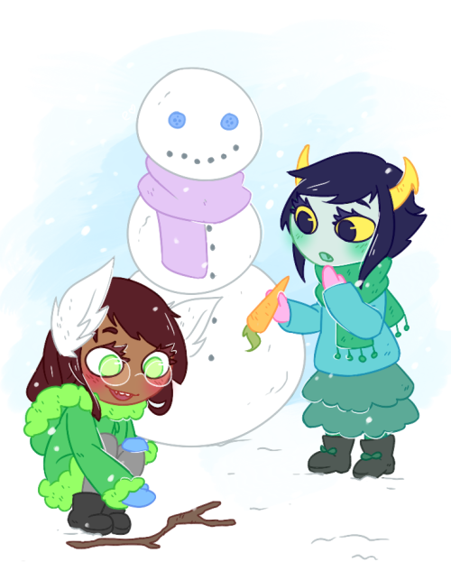 "kanayakind:  it looks like kanaya is about to eat the carrot but shes not pptphpt i just wanted to draw ""chibi""' style breathes heavily merry christmas!!!!!!! :^)"