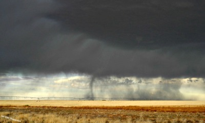 tortugajoe:  my first photographed tornado. this was yesterday north of Seminole, Texas