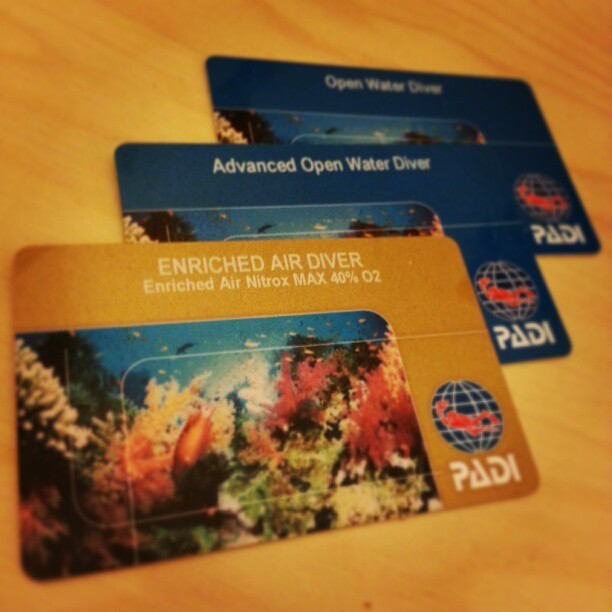 Finally got my Enriched Air Diver certification card! Next up, Rescue Diver! #scubadiving #padi #underthesea #scubasteve