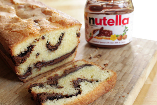 thecakebar:  Nutella Pound Cake Recipe