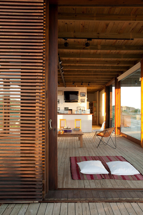 justthedesign:  Outside At The Beach House by Martin Gomez Arquitectos