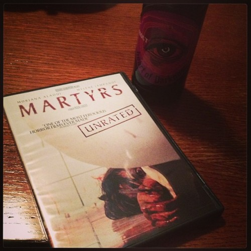 Horror movie and magic hat girls night. #martyrs #horror