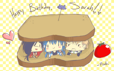 Drew this for my lovely friend for her birthday~! she wanted an ot3 sandwich and I delivered.