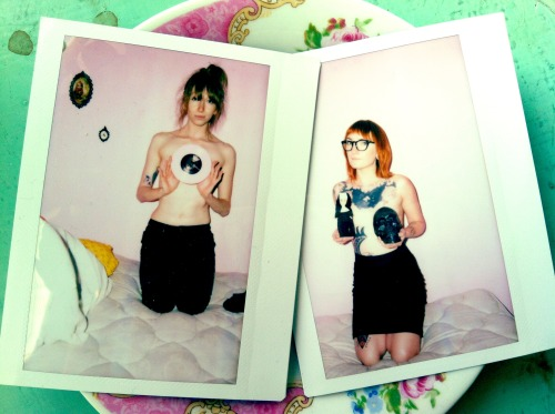 openlylewd:  Fun with instax.  Me and girlfrand!
