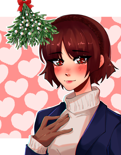 Merry Christmas~ #Haru Okumura#Makoto Niijima#Persona 5 #Persona 5 Royal #my art