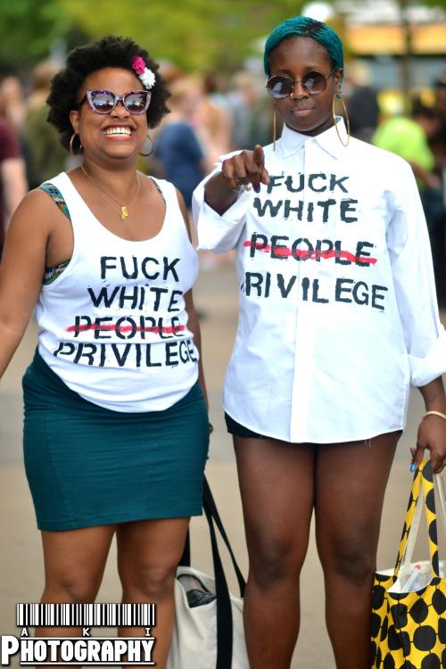 blackfashion:  AfroPunk Fest 2014 Jet + Jes IG: NobodiesOfNote Buy the shirt here Taken by: AKIphotos