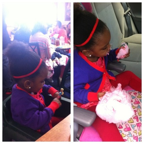 From Anniversary party to cotton candy killah in the back seat lol