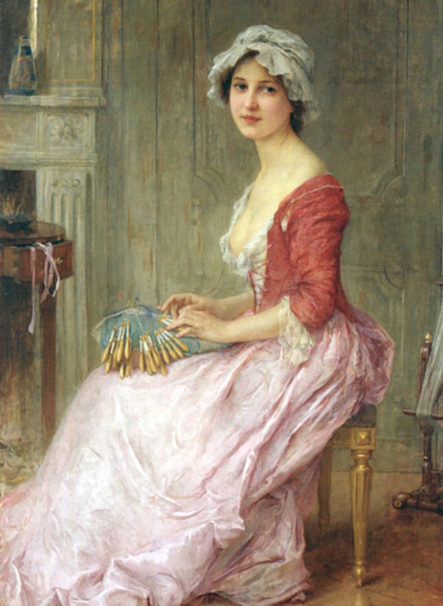 fleurdulys:  The Seamstress - Charles-Amable Lenoir