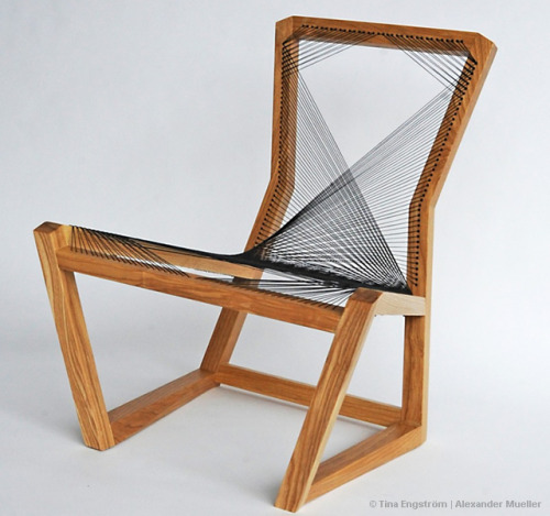 cjwho:  Woven Easy chair by Alexander Mueller