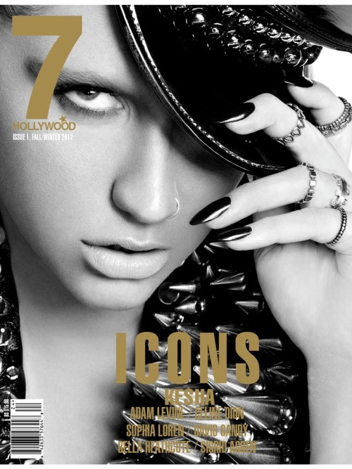 Ke$ha for 7 Hollywood Magazine Fall/Winter 2012 [7/7 Cover]