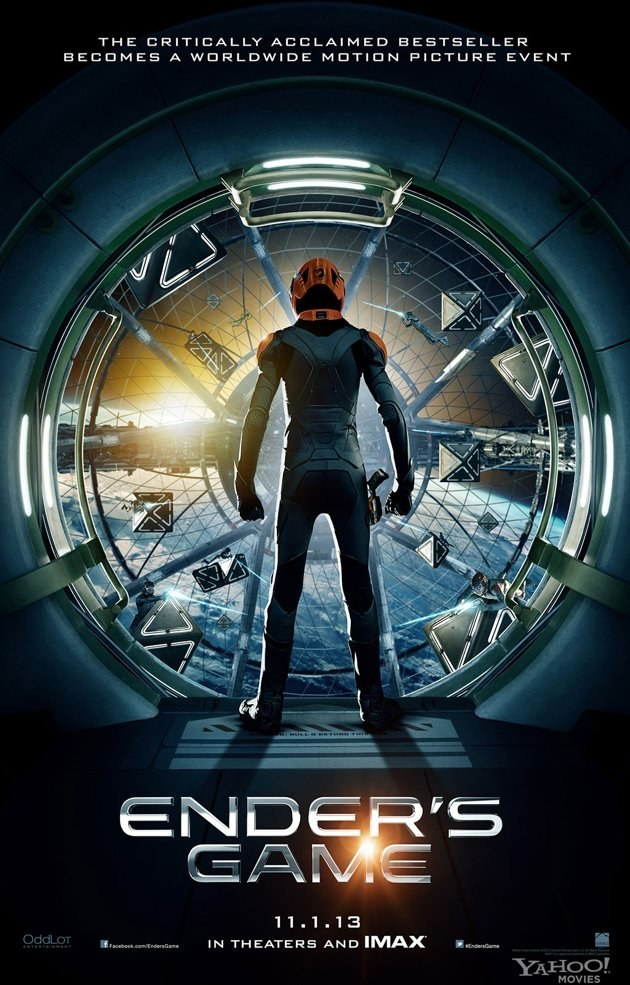 "heyteenbookshey:  kvknowsherfun:  popculturebrain:  Poster: 'Ender's Game' | Yahoo! via FT  In all the times I've read this book I never pictured the Battle Room walls being glass. I love it. And I love the ""stars."" Can it be November now please?  YOU GUYS."