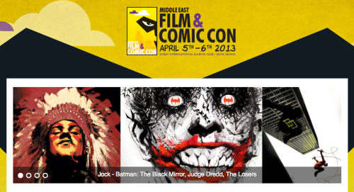 Looking forward to meeting all the people at Middle East Film and Comic Con in Dubai! I'll be there with my good friend Jock… I'll just sit and watch him draw in awe… See you there with pencils and paper!XXX Rufus - Team SGDM