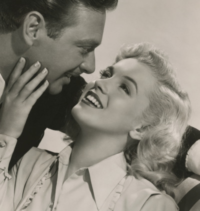 Rand Brooks and Marilyn Monroe in Ladies of the Chorus c.1948