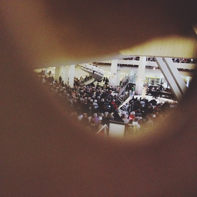 luminous-lu:  Clandestine picture of the concert. Shhhh. #berlin #berlinlove #liebeberlin #travel #igtravel #igers #igpros #ignation #igmasters #igberlin #iphone4s #iphonesia #iphoneonly #iphonegraphy #afterglowapp #traveling #travelgram #vacation #city #urban #tourism #tour #deutschland  It was such a beautiful concert, sitting on the floor with my darling in my arms, listening to Brahms and Beethoven with a big crowd in a gorgeous concert hall foyer, and all of that for free!