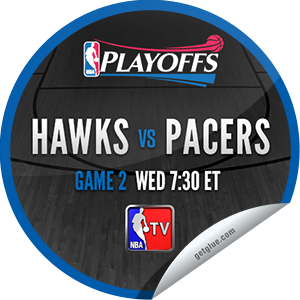 I just unlocked the 2013 NBA Playoffs: Hawks vs. Pacers #2 sticker on GetGlue                      1793 others have also unlocked the 2013 NBA Playoffs: Hawks vs. Pacers #2 sticker on GetGlue.com                  You are now watching game 2 of Atlanta Hawks  vs. Indiana Pacers in the 2013 NBA Playoffs Conference Finals on TNT. Thank you for tuning in and enjoy.  Share this one proudly. It's from our friends at Turner Sports.