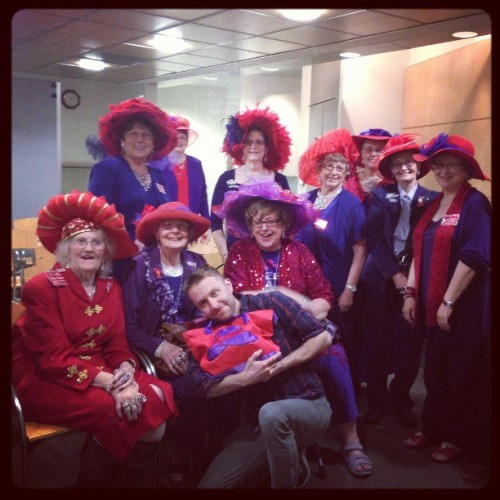nerdist:  I think I joined the Red Hat Society today. #mischief