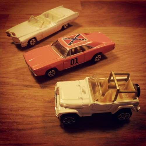 xpepperx:  Forbidden wheels part.1 - #wheels #car #miniature #hazzard #bo&luke #dukesofhazzard #daisyduke #bosshogg  Cars from the Dukes of Hazzard! I loved all these cars. :)