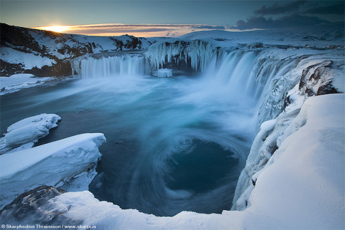 "spacettf:  Goðafoss ""Waterfall of the Gods"" - North Iceland by skarpi - www.skarpi.is on Flickr."