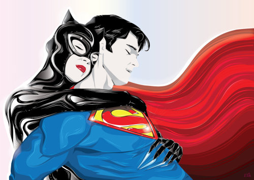 Superman & Catwoman: Once Upon a Time… // artwork by EosVector (2012)