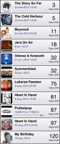 My countdowns atm.