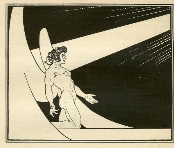 venusmilk:  Ephraim Moses Lilien,  Satan appears before the Divine Presence (source)