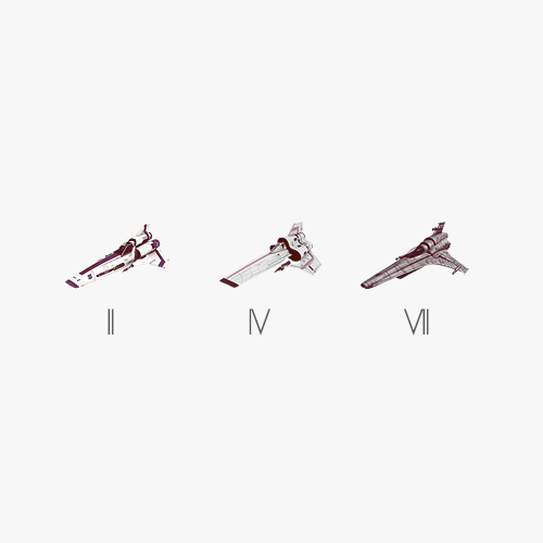 minimalist battlestar - the vipers