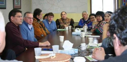 Indigenous Russian Delegation Shares Concerns at Akwesasne A delegation of six indigenous leaders from the Russian Far East visited the Saint Regis Mohawk Tribe at Akwesasne Territory in February to discuss issues concerning the environment, retaining culture, self-governance and journalism.